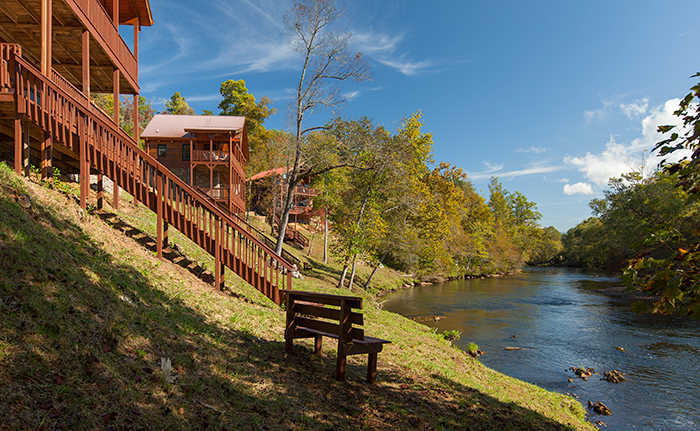 cabin pond cabins n snap murphy nc c deck s fish turtle in