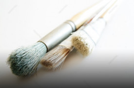 Blue Heaven Studio | Cabin Rentals of Georgia | paint brushes