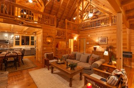 Hidden Valley Lodge | Cabin Rentals of Georgia | High Vaulted Ceilings