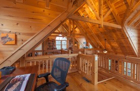 Hidden Valley Lodge | Cabin Rentals of Georgia | Office Loft Area