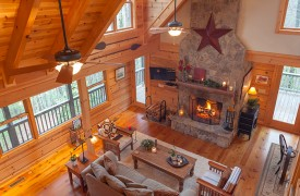 Hidden Valley Lodge | Cabin Rentals of Georgia | Living Area From Loft