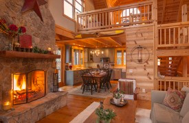 Hidden Valley Lodge | Cabin Rentals of Georgia | Cozy Up To The Fire