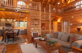 Hidden Valley Lodge | Cabin Rentals of Georgia | Open Floor Plan
