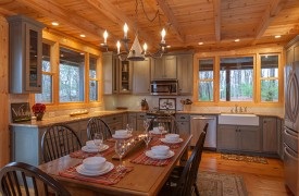 Hidden Valley Lodge | Cabin Rentals of Georgia | Spacious, Eat-In Kitchen