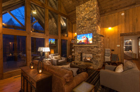 Creekside Bend | Blue Ridge Luxury Cabin Rental | Cabin Rentals of Georgia | Luxury Living Area