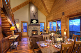 A Rustic Elegant Retreat | Blue Ridge Luxury Cabin Rentals | Cabin Rentals of Georgia | Beautiful Interior