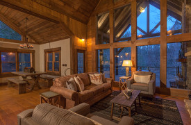 Creekside Bend | Blue Ridge Luxury Cabin Rental | Cabin Rentals of Georgia | Living Area