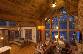 Creekside Bend | Blue Ridge Luxury Cabin Rental | Cabin Rentals of Georgia | Living and Dining Area