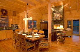 A Rolling River Cabin | Cabin Rentals of Georgia | Elegant Dining