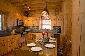 A Rolling River Cabin | Cabin Rentals of Georgia | Full Kitchen and Dining