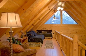 A Rolling River Cabin   Cabin Rentals of Georgia   Peaceful Sleeping Loft