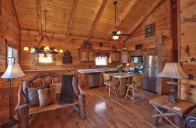 Hiwassee River Sanctuary | Cabin Rentals of Georgia | Stocked Kitchen