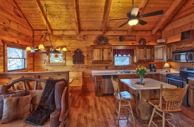 Hiwassee River Sanctuary | Cabin Rentals of Georgia | Breakfast Bar