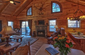 Hiwassee River Sanctuary | Cabin Rentals of Georgia | All-Wood Interior