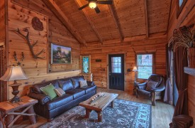 Hiwassee River Sanctuary | Cabin Rentals of Georgia | Cozy Living Area