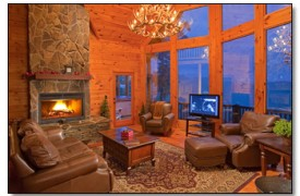 Riverview Lodge | Cabin Rentals of Georgia | Great Room