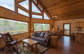 Living Room | Down By The River | Cabin Rentals of Georgia
