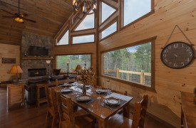 Dining Room | Down By The River | Cabin Rentals of Georgia
