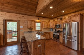 Kitchen | Down By The River | Cabin Rentals of Georgia