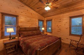 Top Level Bedroom | Down By The River | Cabin Rentals of Georgia
