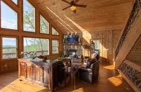 Arcadia | Cabin Rentals of Georgia | Gorgeous Wood Interior