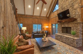 A Mayfly Lodge & Treehouse | Cabin Rentals of Georgia | Living Area