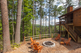 Above the Timberline | Cabin Rentals of Georgia | Fire Pit
