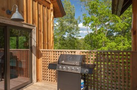A Mayfly Lodge & Treehouse | Cabin Rentals of Georgia | Gas Grill on deck