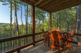 Above the Timberline | Cabin Rentals of Georgia | Terrace Level Dining
