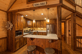 Above the Timberline | Cabin Rentals of Georgia | Beautiful Kitchen