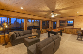 Above the Timberline | Cabin Rentals of Georgia | Terrace Level Game Room