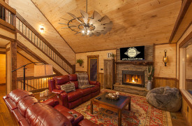 Above the Timberline | Cabin Rentals of Georgia | Cozy Living Area