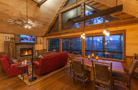 Above the Timberline | Cabin Rentals of Georgia | Open Floor Plan