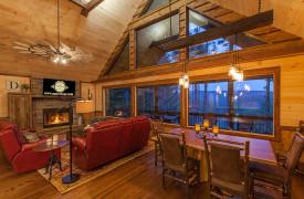 Above the Timberline | Cabin Rentals of Georgia | Open Floor Plan
