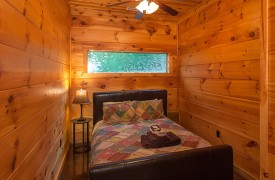 The River's Edge | Cabin Rentals of Georgia | Terrace Level Queen Bedroom
