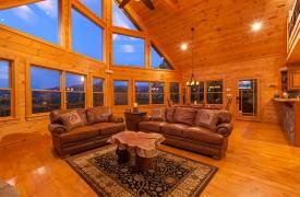 Bella Vista Lodge | Cabin Rentals of Georgia | Beautiful Evening Sky