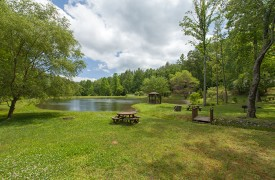 Bella Vista Lodge | Cabin Rentals of Georgia | Peaceful Pond