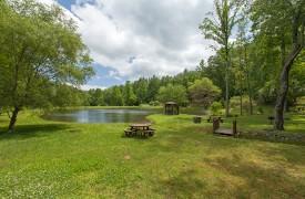 Bella Vista Lodge | Cabin Rentals of Georgia | Peaceful Pond
