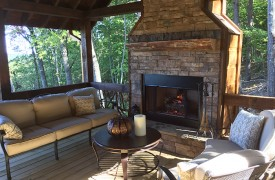 Arcadia | Cabin Rentals of Georgia | Outdoor Living With Cozy Seating