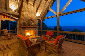 Cohutta Sunset | Cabin Rentals of Georgia | Enjoy Views From Deck