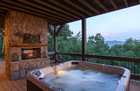 Cohutta Sunset | Cabin Rentals of Georgia | Hot Tub Mountain Views