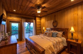 Cohutta Sunset | Cabin Rentals of Georgia | Lounge In Bed