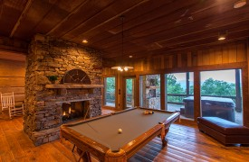 Cohutta Sunset | Cabin Rentals of Georgia | Terrace Level Entertainment