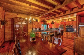 Royal Mountain Lodge | Dining Area and Kitchen | Cabin Rentals of Georgia
