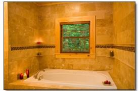 Riverview Lodge | Cabin Rentals of Georgia | Main Level Master Bathroom