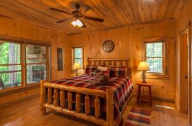 Blue Ridge Intown Retreat | Cabin Rentals of Georgia | King Suite