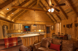Blue Ridge Intown Retreat | Cabin Rentals of Georgia | Living/Dining Area