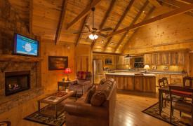 Blue Ridge Intown Retreat | Cabin Rentals of Georgia | Luxury Open Floor Plan