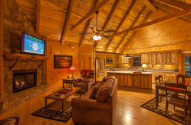 Blue Ridge Intown Retreat | Cabin Rentals of Georgia | Luxury Open Floor Plan