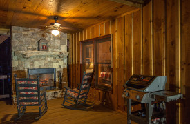 Blue Ridge Intown Retreat | Cabin Rentals of Georgia | Outdoor Fireplace